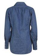 Jejia Ruffled Detail Shirt - Blue