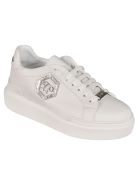 Philipp Plein Low-top Crystal Logo Sneakers - White