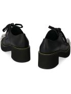 Miu Miu Leather Lace-up Shoes - black