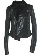 Rick Owens Leather Padded Jacket - Nero
