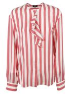 Rochas Striped Shirt - White/red
