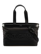 Dolce & Gabbana Mediterrane Shopper Bag - Black