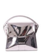 Zucca Silver Buckled Bag M - Silver