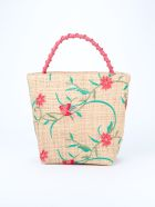 Maria La Rosa Handbag - Anemone Red