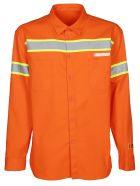 HERON PRESTON Reflective Stripe Shirt - Orange