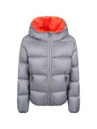 Colmar Grey Jacket For Kids With Logo - Grey