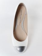 Anna Baiguera Logo Detail Ballerinas - Silver Natur White