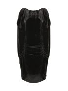 Paula Knorr Ruched Midi Dress - Nero