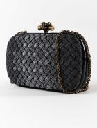 Bottega Veneta Chain Knot Clutch - Antique Silver
