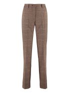 Hebe Studio Lover Prince Of Wales Trousers - brown
