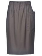 Sofie d'Hoore Drawstring Skirt - Chocolate
