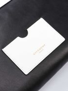 Givenchy Tag Zipped Clutch - White/black