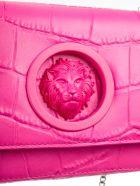 Versus Versace Lion Embossed Shoulder Bag - Ff1n Fuchsia Nickel