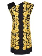 Versace Barocco Print Dress - Black/Gold