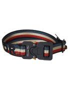 Christian Dior Striped Logo Belt - Multicolor