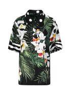 Dolce & Gabbana Oversize Printed Silk Shirt - Multicolor