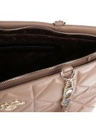 Love Moschino Beige Color Quilted Ecoleather Shopper Bag - Beige