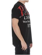 Philipp Plein T-shirt With Print On Front - Black