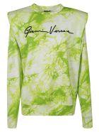 Versace Logo Print Sweatshirt - White/Green