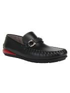 Salvatore Ferragamo Tasby Loafers - Nero/rouge