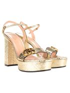Gucci Platform Sandal With Double G - GOLD