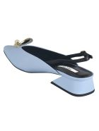Yuul Yie Block Heel Back Strap Pumps - Azzurro