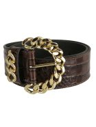 Kate Cate Chain Buckled Belt - Brown