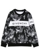 Givenchy Black And White Cotton Sweatshirt - Nero+bianco