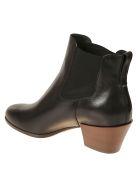 Hogan Elasticated Side Ankle Boots - Black