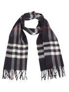 Burberry Giant Check Scarf - Navy