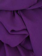 Emporio Armani Top W/s Georgette W/knot - Viola