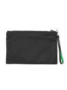 Prada Two-tone Zipped Clutch - Xvs Black Green Fluo