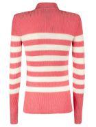 Balmain Stripe Knit Sweater - Pink/White