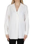 Agnona White Viscose-linen Blend Blouse - IVORY