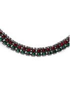 Marni Floral Appliquéd Wrap Necklace - Marrone multicolor