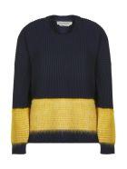 SportMax Ribbed Sweater - Blu giallo