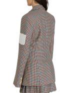 Off-White Contrast-patch Tweed Blazer - Multi