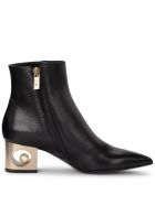 Coliac Pieter Black Leather Ankle Boots With Pearl - Black