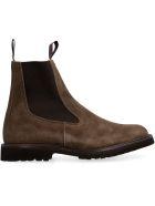 Tricker's Stephen Suede Chelsea Boots - brown