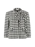 RED Valentino Short Jacket With Applied Bow - Multicolor