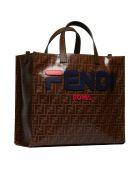 Fendi Logo Patch Shopper Bag - Marrone multicolor