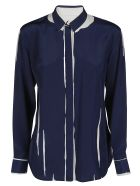 Paul Smith Navy Silk Shirt - Blue