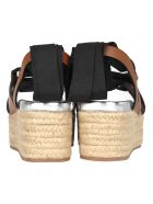 Miu Miu Miu Miu Platform Ribbon Sandals - BROWN