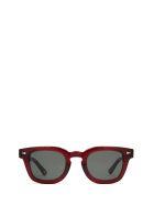 AHLEM Ahlem Champ De Mars Burgundy Sunglasses - BURGUNDY