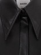 Nanushka Noelle Shirt L/s Slim Faux Leather - Black