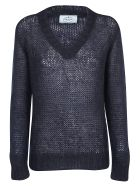 Prada V-neck Knit - Bleu
