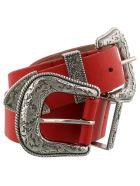 B-Low the Belt Small Br Bri Belt - Red