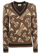 Burberry Namata Sweater - Bridle brown ip pttn