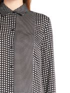 Equipment 'essential Patchwork' Shirt - Black&White