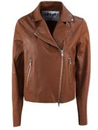 S.W.O.R.D 6.6.44 Brown Lambskin Jacket - Cuoio